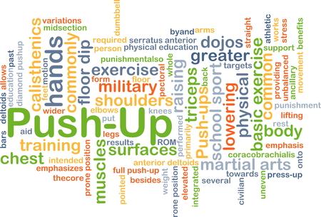 Background concept wordcloud illustration of push-up Stok Fotoğraf - 42275838