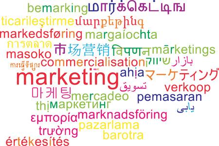 multilanguage: Background concept wordcloud multilanguage international many language illustration of marketing Stock Photo