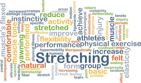 elasticidad: Ilustración de wordcloud concepto de estiramiento