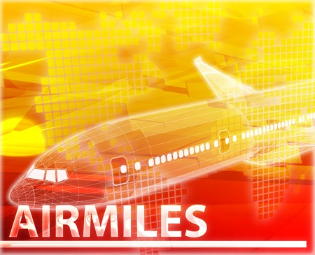 frequent: Abstract background digital collage concept illustration airmiles air travel miles