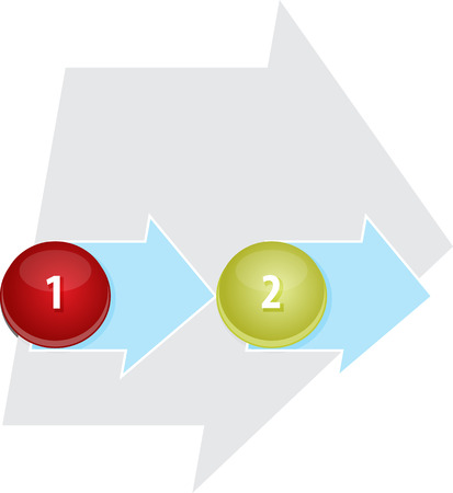 sequential: blank business strategy concept infographic diagram illustration of organizational process steps  two 2 Stock Photo