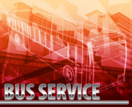commuting: Abstract background digital collage concept illustration bus service public transport