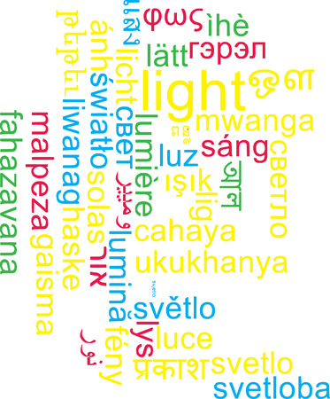 wordcloud: Background concept wordcloud multilanguage international many language illustration of light Stock Photo