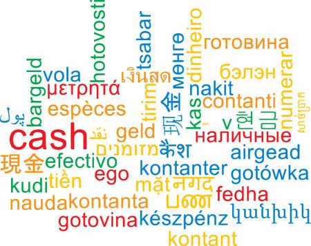 multilanguage: Background concept wordcloud multilanguage international many language illustration of cash