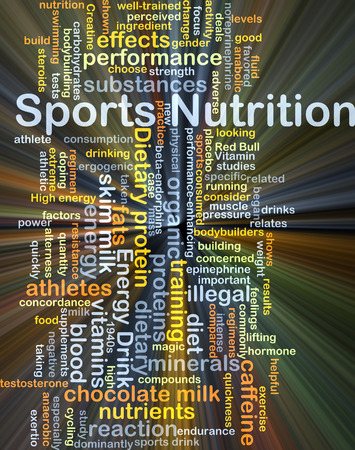 quickness: Background concept wordcloud illustration of sport nutrition glowing light