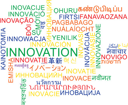 wordcloud: Background concept wordcloud multilanguage international many language illustration of innovation