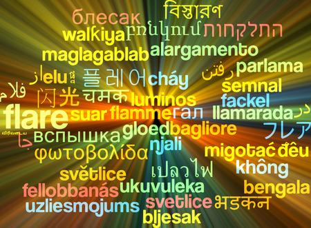 widening: Background concept wordcloud multilanguage international many language illustration of flare glowing light Stock Photo