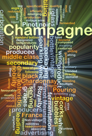 characteristic: Background concept wordcloud illustration of champagne glowing light