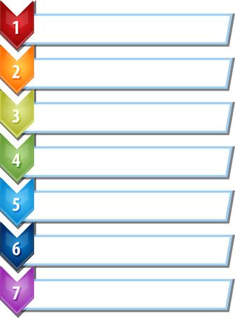 spatie strategieconcept infographic chevron lijst diagramillustratie zeven 7 stappen