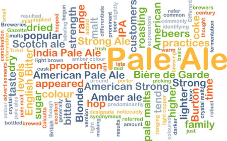 ale: Background concept wordcloud illustration of pale ale Stock Photo