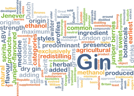 predominant: Background concept wordcloud illustration of gin