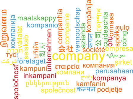 wordcloud: Background concept wordcloud multilanguage international many language illustration of company