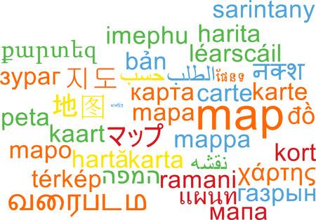 conceptual maps: Concepto de fondo wordcloud ilustraci�n muchos lengua internacional multilenguaje del mapa