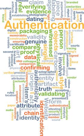 validez: Concepto de fondo wordcloud ilustración de autenticación Foto de archivo