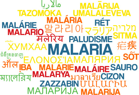 malaria: Background concept wordcloud multilanguage international many language illustration of malaria Stock Photo