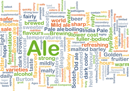 ale: Background concept wordcloud illustration of ale Stock Photo