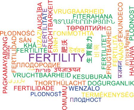 fertility: Background concept wordcloud multilanguage international many language illustration of fertility