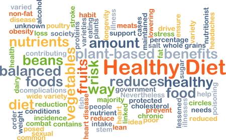 contributing: Background concept wordcloud illustration of healthy diet