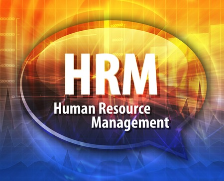 human resource: word speech bubble illustration of business acronym term HRM Human Resource Management