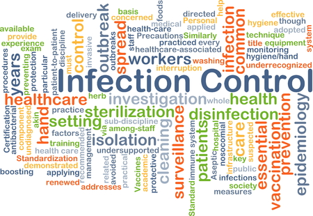 infection: Background concept wordcloud illustration of infection control