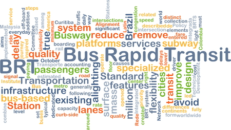 rapid: Background concept wordcloud illustration of bus rapid transit BRT