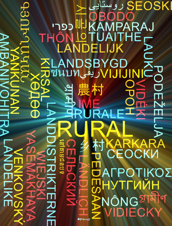 french countryside: Background concept wordcloud multilanguage international many language illustration of rural area glowing light