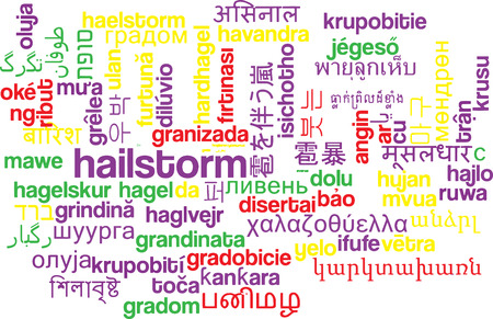 hailstorm: Background concept wordcloud multilanguage international many language illustration of hailstorm