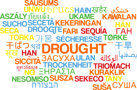 drought: Background concept wordcloud multilanguage international many language illustration of drought Stock Photo