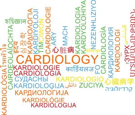 multilanguage: Background concept wordcloud multilanguage international many language illustration of cardiology