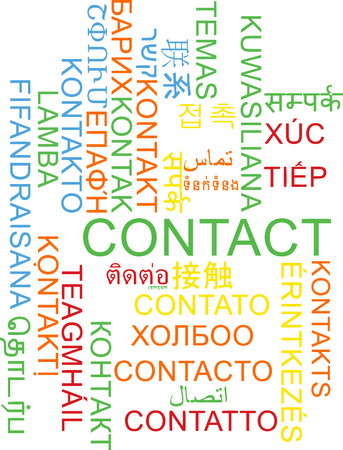multilanguage: Background concept wordcloud multilanguage international many language illustration of contact