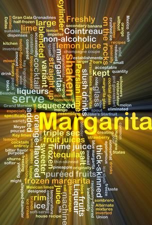 slush: Background concept wordcloud illustration of margarita glowing light