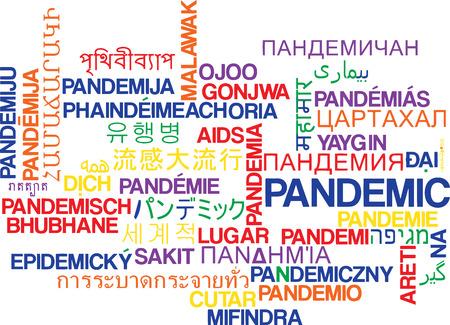pandemic: Background concept wordcloud multilanguage international many language illustration of pandemic