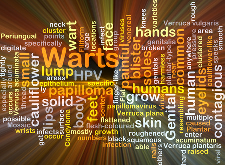warts: Background concept wordcloud illustration of warts glowing light