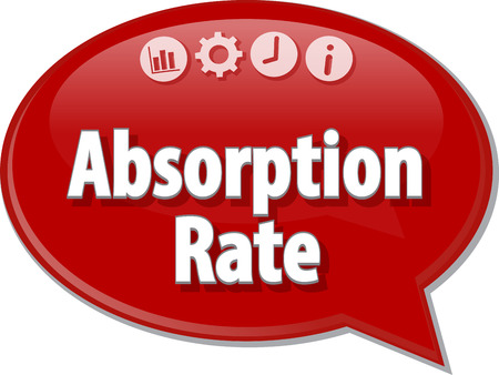 absorption: Speech bubble dialog illustration of business term saying Absorption Rate accounting Stock Photo