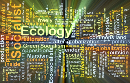 socialist: Background concept wordcloud illustration of socialist ecology glowing light Stock Photo