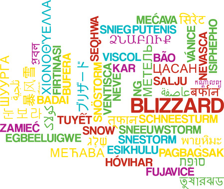 blizzard: Background concept wordcloud multilanguage international many language illustration of blizzard storm