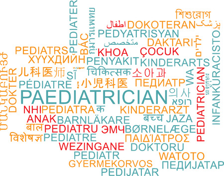multilanguage: Background concept wordcloud multilanguage international many language illustration of padiatrician