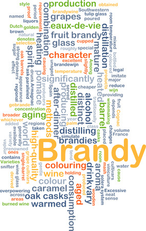 distilling: Background concept wordcloud illustration of brandy