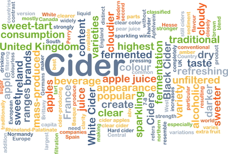 variety: Background concept wordcloud illustration of cider