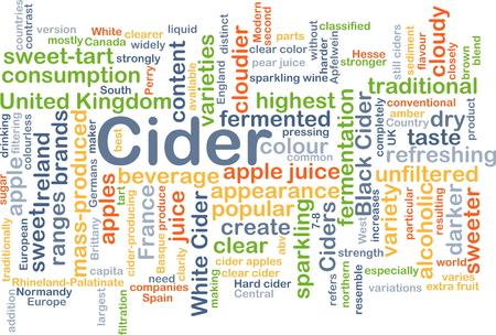 cider: Background concept wordcloud illustration of cider