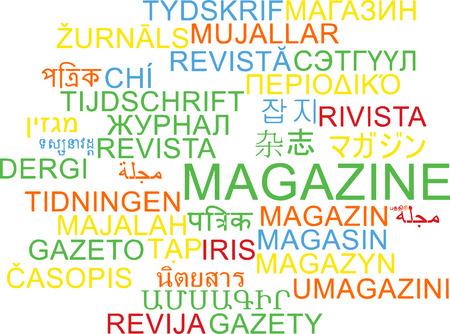 periodical: Background concept wordcloud multilanguage international many language illustration of magazine Stock Photo