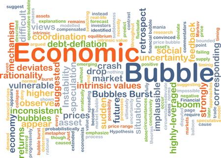 Background concept wordcloud illustration of economic bubble 版權商用圖片