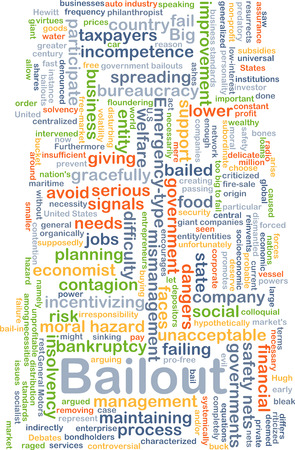 taxpayers: Background concept wordcloud illustration of bailout