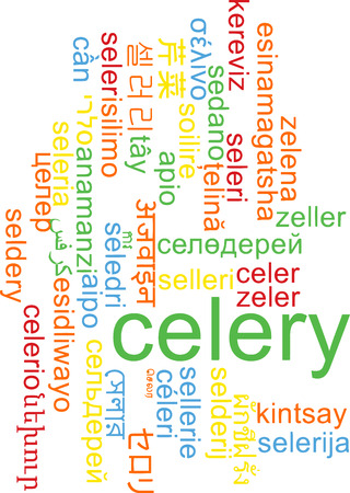 celery: Background concept wordcloud multilanguage international many language illustration of celery