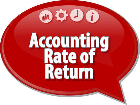 rate of return: Speech bubble dialog illustration of business term saying Accounting Rate of Return
