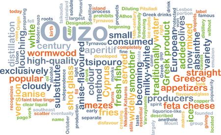 absinthe: Concepto de fondo wordcloud ilustraci�n de ouzo