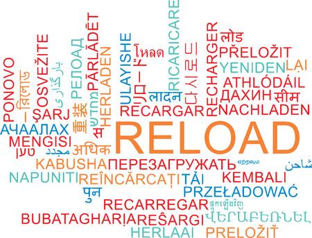 multilanguage: Background concept wordcloud multilanguage international many language illustration of reload