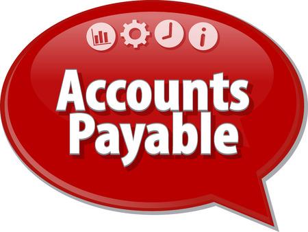 payable: Speech bubble dialog illustration of business term saying Accounts Payable Stock Photo