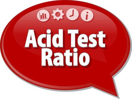 bubble acid: Speech bubble dialog illustration of business term saying Acid Test Ratio