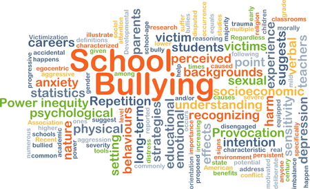 wordcloud: Background concept wordcloud illustration of school bullying